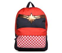 CAPTAIN MARVEL REALM Rucksäcke für Taschen in rot
