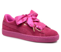 Suede Heart Satin Wn's Sneaker in rosa