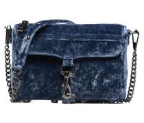 Mini Mac Velvet Handtasche in blau