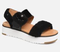 Le Fluff Sandalen in schwarz