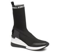 Grover Knit Bootie Sneaker in schwarz