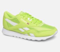 Classic Leather Nylon Color Sneaker in grün