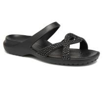 Meleen Twist Diamante Sandal Clogs & Pantoletten in schwarz