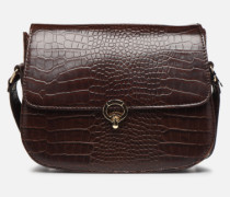Sac Romeo Croco Embossed leather Handtasche in braun