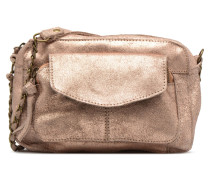 Naina Leather Crossover Handtasche in rosa