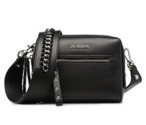 Crossbody Chain Strap Handtasche in schwarz