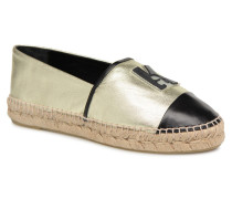 Karl Leather Espadrille Espadrilles in goldinbronze