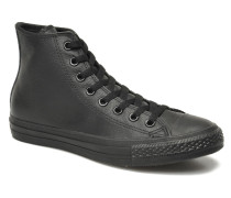 Chuck Taylor All Star Mono Leather Hi M Sneaker in schwarz