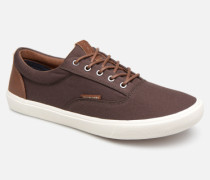 Jack & Jones Jfwvision Classic Mixed Sneaker in braun