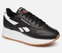 Classic Leather Double Sneaker in schwarz