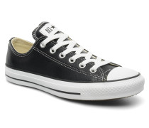 Chuck Taylor All Star Leather Ox W Sneaker in schwarz
