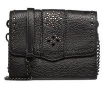 Small flap crossbody Handtasche in schwarz