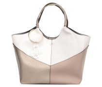 Flora Shopper Handtasche in beige