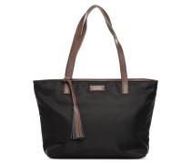 Cabas Eden Zippé Nylon Handtasche in schwarz