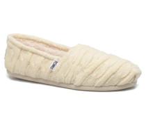 Seasonal classics knit Slipper in weiß
