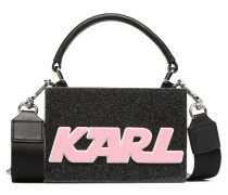 K Sporty Minaudière Handtasche in schwarz
