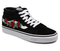 SK8Mid Reissue Rose Thorns Sneaker in schwarz