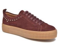 TraiX Suede Sneaker in weinrot
