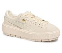Platform Trace Animal Sneaker in beige