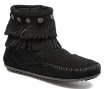 Double Fringe side zip boot Stiefeletten & Boots in schwarz