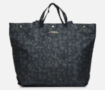 NYLON LEOPARD TOTE Handtasche in blau