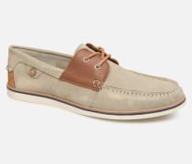 Boat Shoes Larch B Suede Schnürschuhe in beige