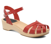 Cross Strap Debutant Sandalen in rot