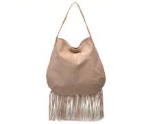 Tabatha suede Obo bag Handtasche in rosa