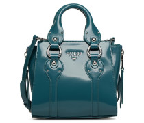 REY LEATHER CROSSBODY TOP ZIP Handtasche in blau