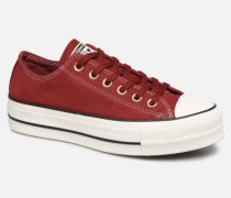 Chuck Taylor All Star Lift Nubuck Ox Sneaker in weinrot