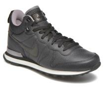 W Internationalist Mid Lthr Sneaker in schwarz
