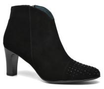IFLOU *Ch Velours NOIR ~Doubl & 1ere CUIR Stiefeletten Boots in schwarz