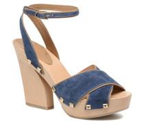 Sandale Sabot Sandalen in blau