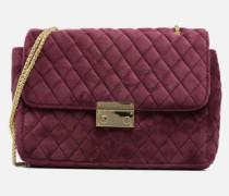 Porté épaule Onela Velvet Handtasche in weinrot