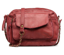 Naina Leather Crossover Handtasche in weinrot