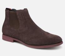 Dressy Casual Suede Chelsea Stiefeletten & Boots in braun