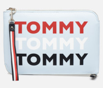 ICONIC TOMMY POUCH Mini Bag in blau