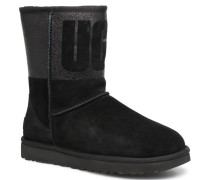 W Classic Short Rubber Stiefel in schwarz