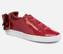Basket Bow Patent Sneaker in rot