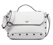 Kaia Top Handle Flap Handtasche in weiß