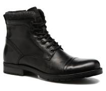 Jack & Jones JFWMARLY LEATHER Stiefeletten Boots in schwarz