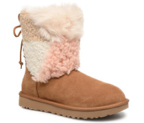 W Classic Short Patchwork Stiefeletten & Boots in beige