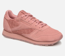 Classic Leather Lace Sneaker in rosa