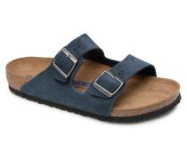Arizona Cuir Suede Soft Footbed M Sandalen in blau