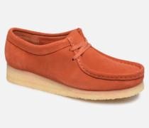 Wallabee. Schnürschuhe in orange