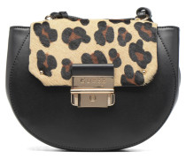 MAELLE Leather Crossbody flap Handtasche in schwarz