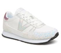 Deportivo Ciclista Glitter Sneaker in weiß