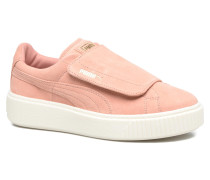 Wns Suede Plat Bigv Sneaker in rosa
