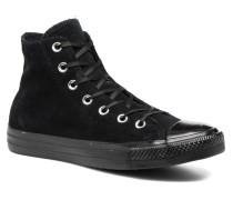 Chuck Taylor All Star Mono Plush Suede Hi Sneaker in schwarz