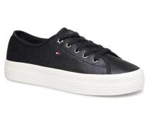 METALLIC FLATFORM SNEAKERS Sneaker in blau